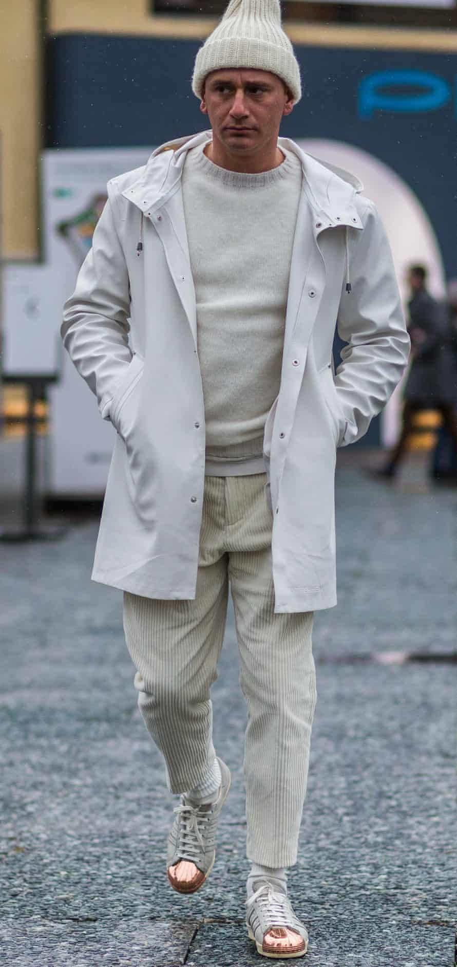 A street-style fisherman-inspired look.