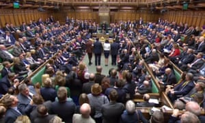 MPs voting in the House of Commons