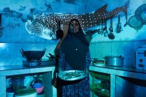 Hawwa Hassan in her home