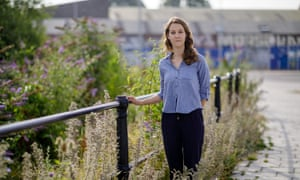 Myla Lloyd on the site of the proposed new campus at Temple Meads