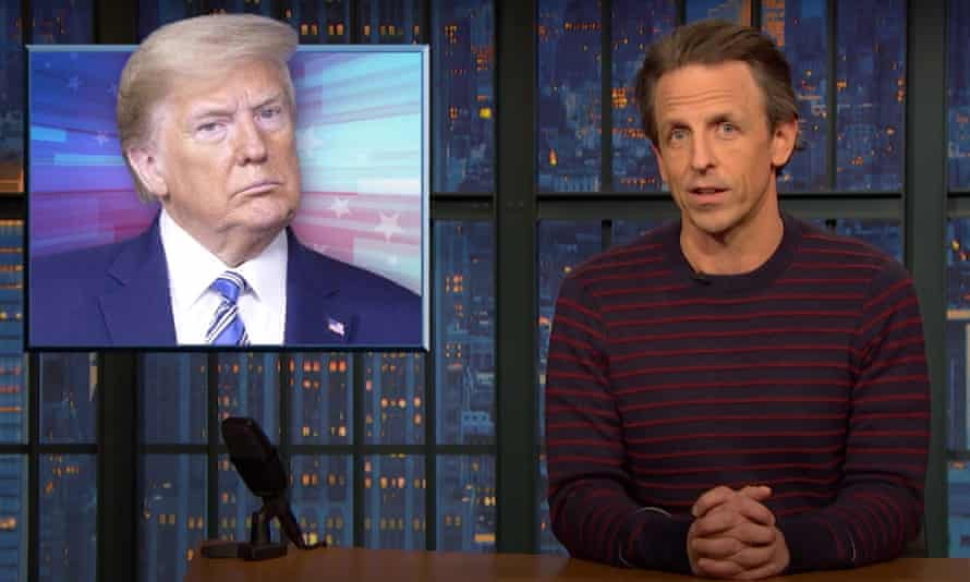 Seth Meyers says Donald Trump is not welcome in New York or Palm Beach, Florida.