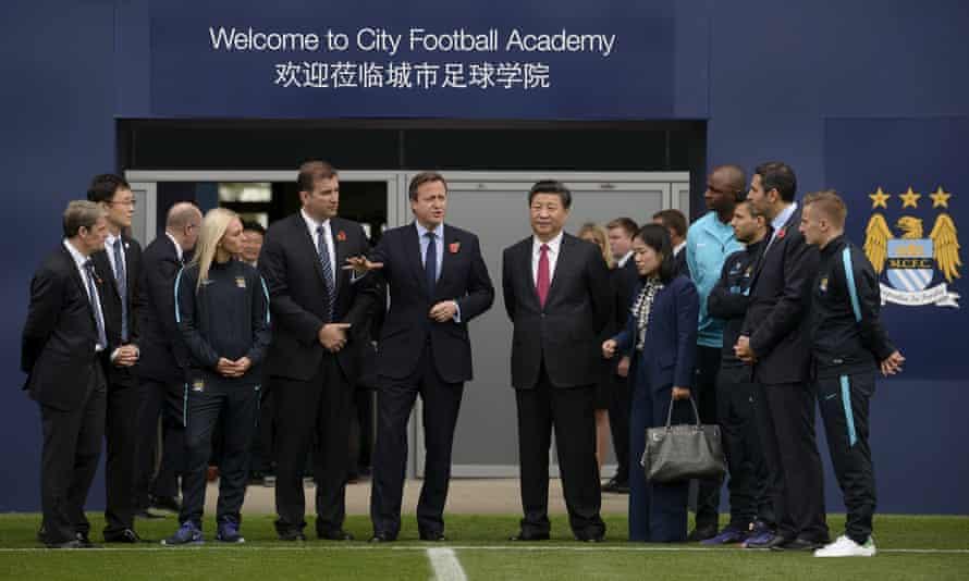 China's president, Xi Jinping, at Manchester City