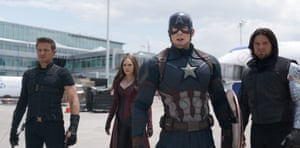Fleshing out … Hawkeye, Scarlet Witch, Captain America and Winter Soldier.