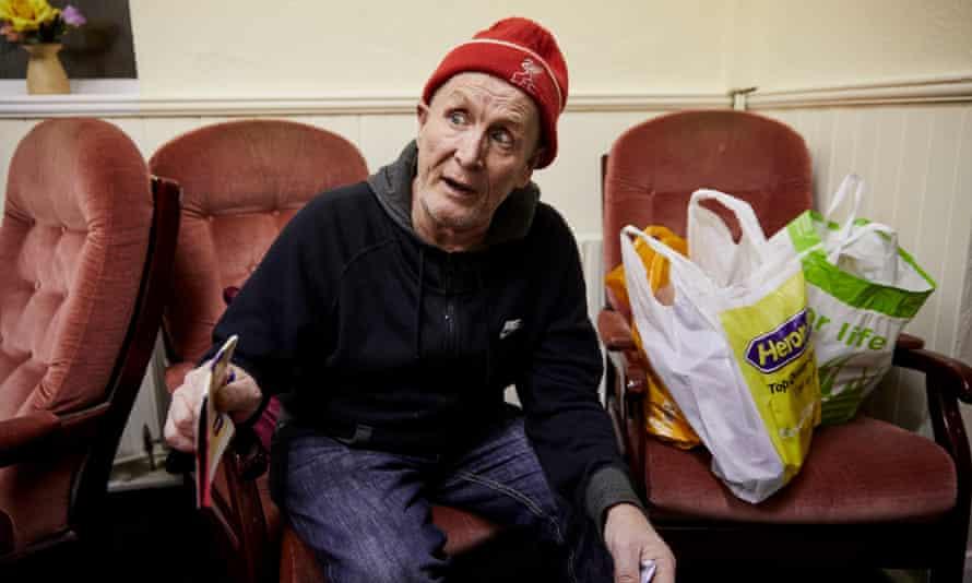 Peter at the food bank.