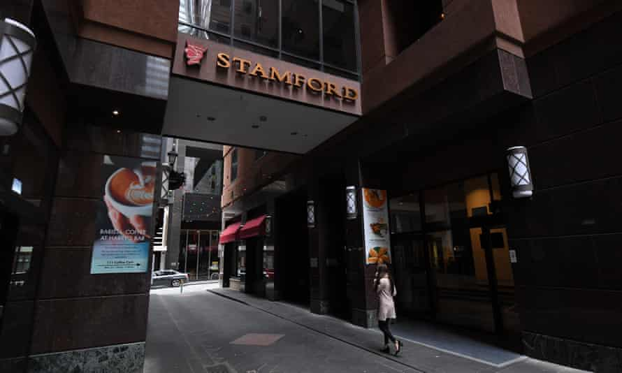 The Stamford Plaza hotel in Melbourne which has been identified as one of the sources of Victoria's second coronavirus outbreak.