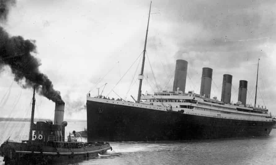 The Titanic leaving Southampton on her ill-fated maiden voyage 10 April, 1912.
