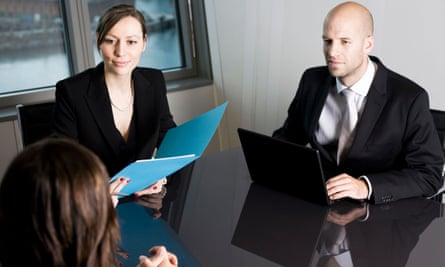 Young woman having a job interview