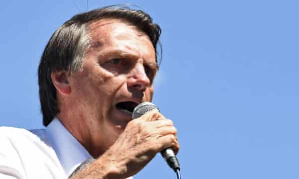 Jair Bolsonaro, who is recovering from a stabbing attack but leads in the polls.
