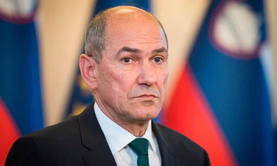 Janez Janša, the Slovenian prime minister.