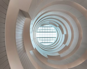 'The circular geometry allows for some momentous atria' … the view up from inside.