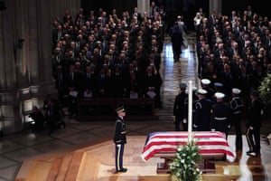 The during the funeral service