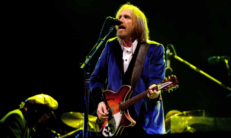Tom Petty on stage at the Isle of Wight festival in 2012