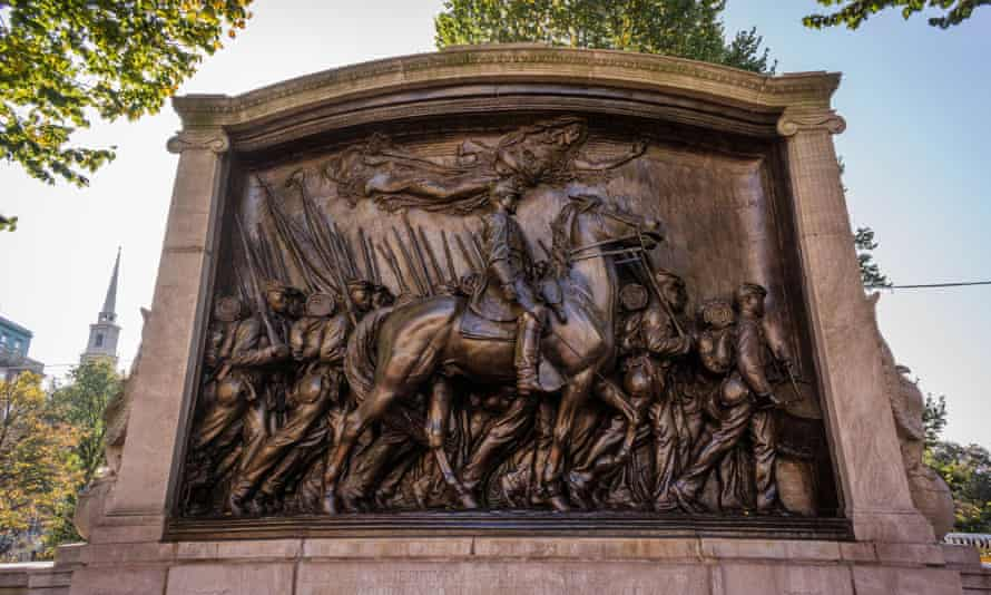 The memorial to Robert Gould Shaw and the Massachusetts 54th regiment in Boston.