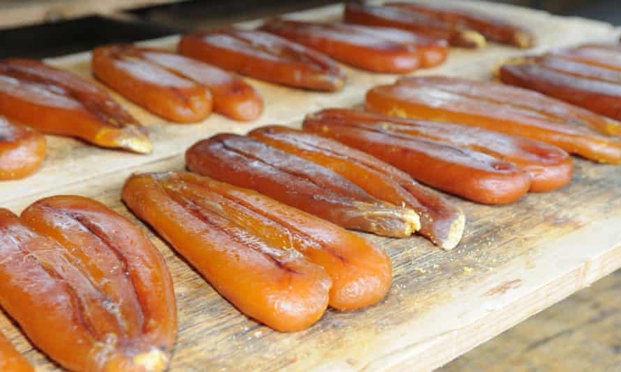 The grey mullet roe.