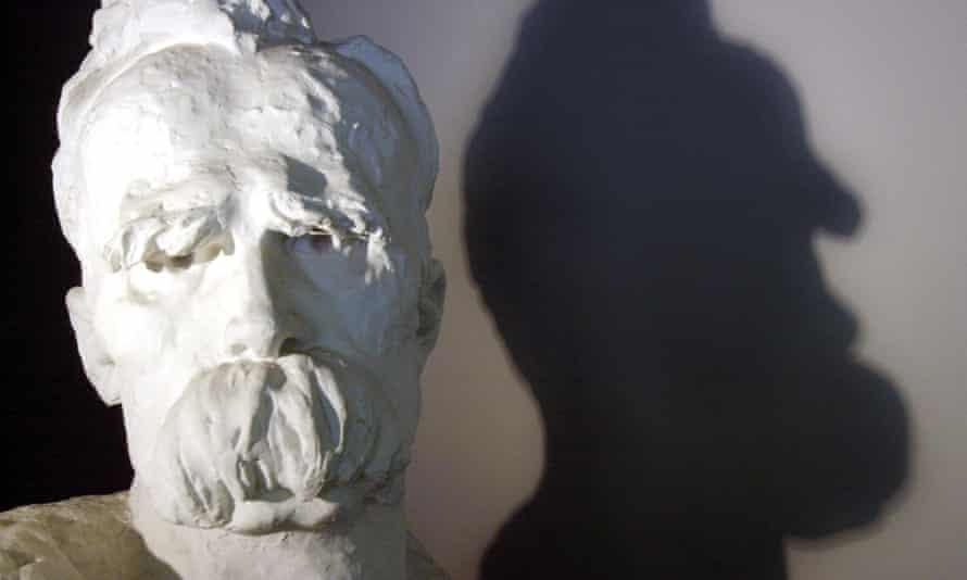 a bust of Friedrich Nietzsche by Gustinus Ambrosi