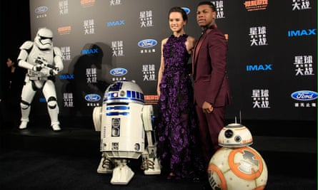 Daisey Ridley and John Boyega of Star Wars: The Force Awakens. The film, which is the highest grossing of the last eight years, was lauded for its inclusive casting.
