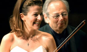 Anne-Sophie Mutter and André Previn in Valencia, Spain.