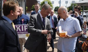 Nigel Farage campaigning in Thurrock last week.