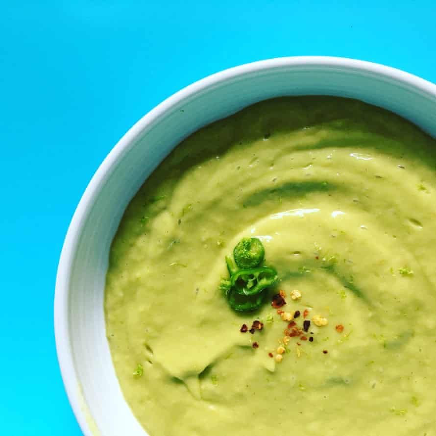 Avocado and mango soup from Just Soup by Henrietta Clancy.