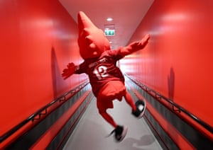 The Liverpool mascot Mighty Red