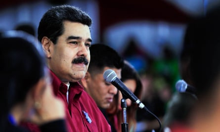 Venezuelan president Nicolás Maduro meets the youth sector of the Socialist Party of Venezuela.