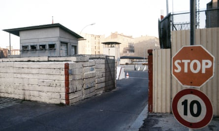 Checkpoint at Chausseestrasse, Berlin, Germany.