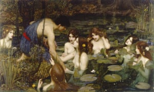 John William Waterhouse's painting Hylas and the Nymphs