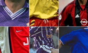 Clockwise: the retro colours of Fiorentina, Sheffield United, Milan, Italy, Manchester City and Arsenal.