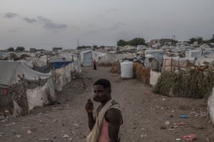 Internally displaced people (IDPs) at Meshqafah Camp on September 23, 2018 in Aden, Yemen