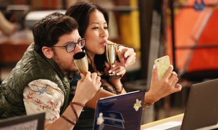 There are no prizes for growing up: Christopher Mintz-Plasse as Clark and Christine Ko as Emma in The Great Indoors.
