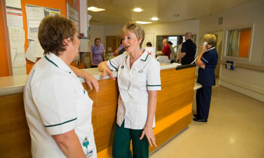 Occupational therapists at Northern general hospital in Sheffield.