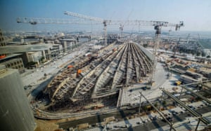 Dubai, UAE: Buildings under construction on the site of the forthcoming Expo 2020 Dubai.