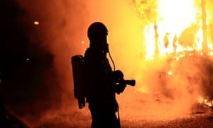 The life of Britain's firefighters: 'My helmet melted around