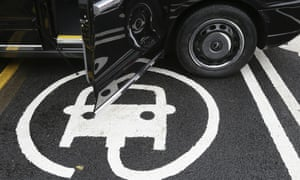 The electric car recharging sign
