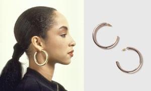 Sade-inspired clean thick hoop earrings, £9, topshop.com