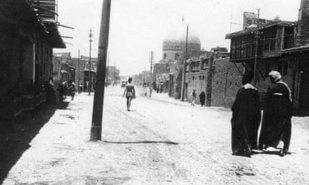 A street in Baghdad in 1918.