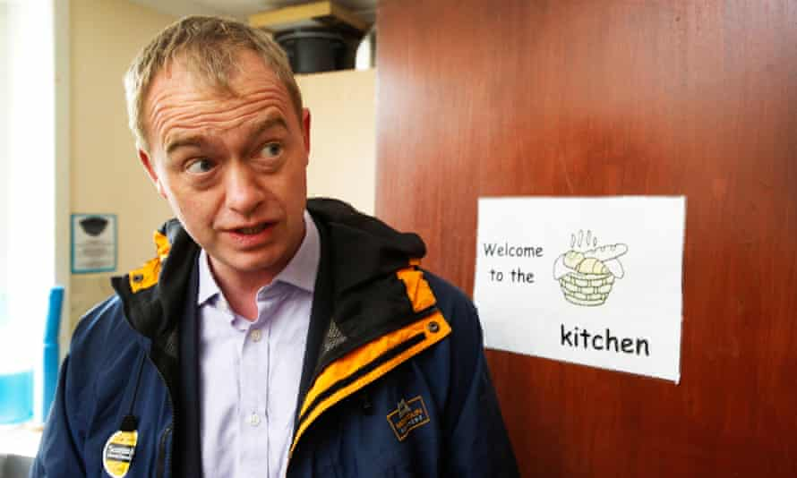 Liberal Democrat leader Tim Farron: watch out for burns.
