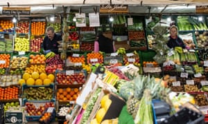 A fruit and veg stall in East Lothian