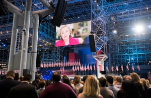 Supporters were beginning to realise that a Clinton victory speech was far from a formality