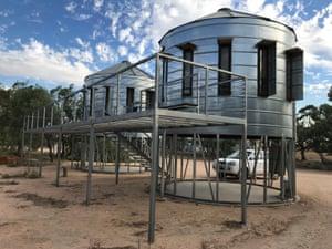 Silos at Mallee Bush Retreat, Silo Art Trail, Australia