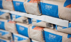Bags of cement are in short supply in the UK.