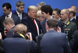 Donald Trump speaks to the Canadian prime minister, Justin Trudeau