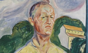 Detail from Edvard Munch's Self-Portrait with Palette