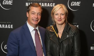 Carole Cadwalladr finally grabs a few brief words with Nigel Farage at a speaking engagement in Melbourne in September.
