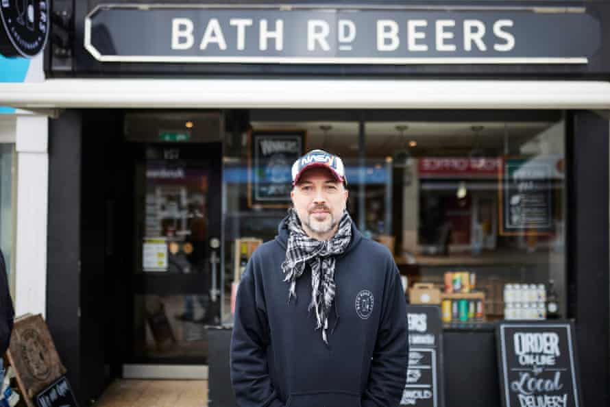 Jake Doherty, manager of micropub and off-licence Bath Rd Beers