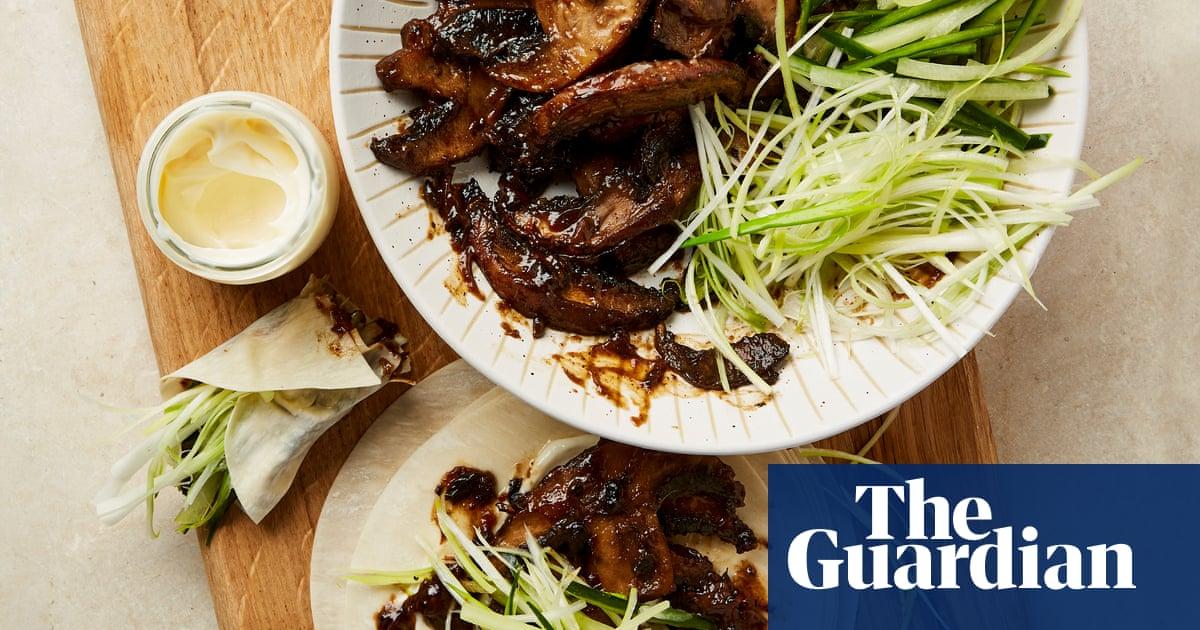 Meera Sodha's vegan recipe for portobello mushroom and hoisin sauce pancakes