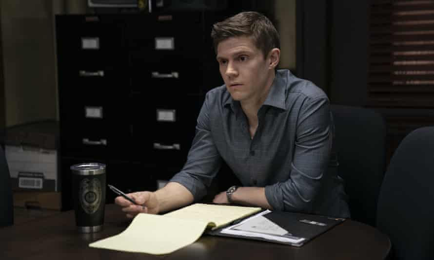 Evan Peters in a more sober moment in Mare of Easttown.