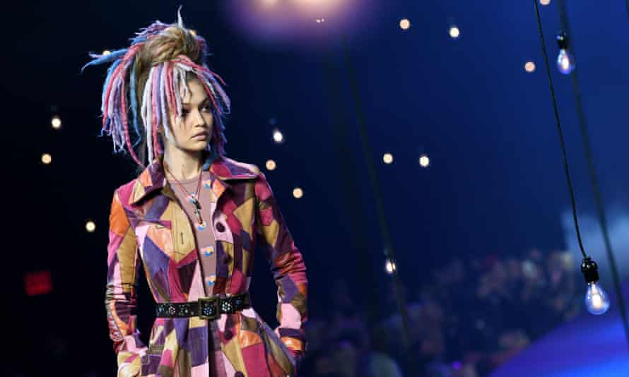 Gigi Hadid during the Marc Jacobs show at New York fashion week.