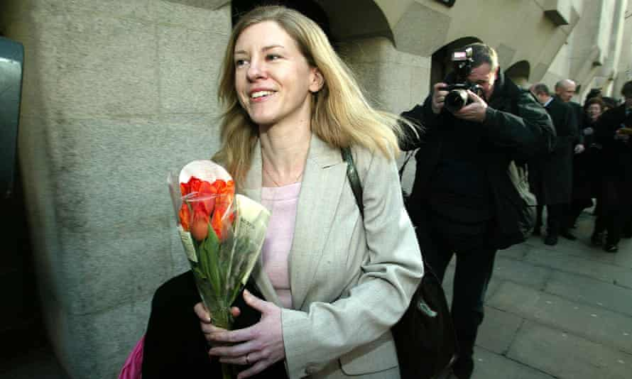 Katharine Gun leaving court in London in 2004, when national security charges against her were dropped.