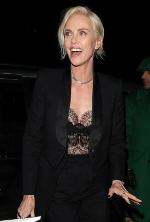 Charlize Theron attends the Vogue after party at Annabel's
